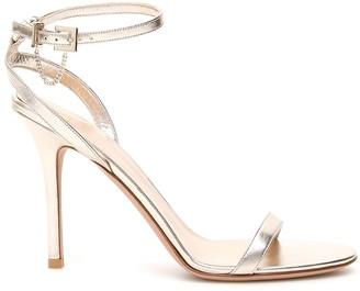 Valentino Garavani Chain Detail Metallic Strap Sandals
