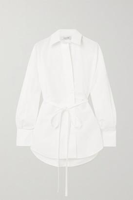 Valentino Cotton-poplin Wrap Shirt - White