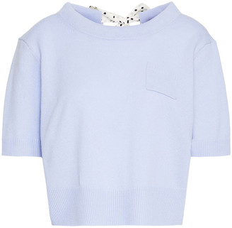 Altuzarra Tuileries Cropped Wool And Cashmere-blend Top