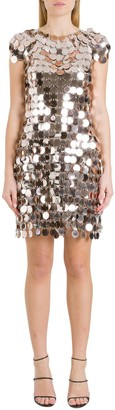 Paco Rabanne Metallic Sequinned Dress