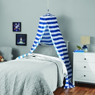 Blue Stripes Printed Hoop Canopy by Your Zone