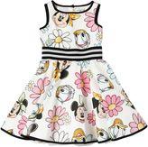 MonnaLisa Disney Printed Cotton Poplin Dress
