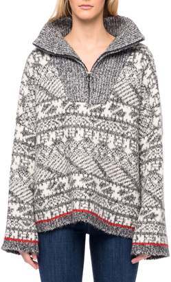 Line Helga Intarsia Oversized Cotton-Blend Sweater