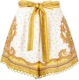 Zimmermann Paisley Print Tie-Waist Shorts