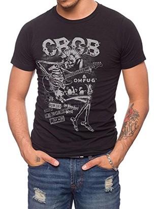 Jack Of All Trades Men's CBGB & OMFUG Skeleton Guitar T-Shirt