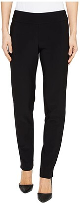 Krazy Larry Microfiber Long Skinny Dress Pants (Black) Women's Dress Pants