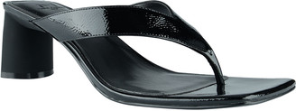 Marc Fisher Cadence Shiny Leather Thong Sandals