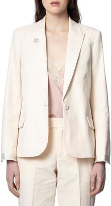 Zadig & Voltaire Victor Cotton & Linen Blazer