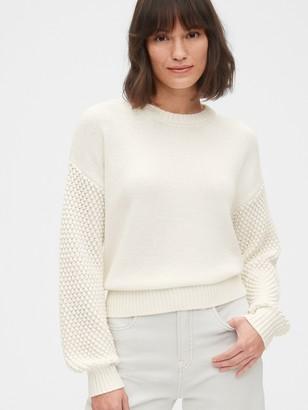Gap Cropped Bobble Stitch Crewneck Sweater