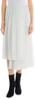 Fendi Drops Kimono Print Asymmetric Midi Skirt