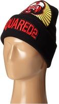 DSQUARED2 Gorilla Patch Knit Hat Caps
