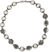 Bottega Veneta Oxidized sterling silver necklace