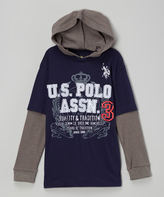 U.S. Polo Assn. Classic Navy Layered Hooded Tee - Boys