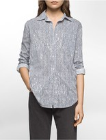 Calvin Klein Distorted Stripe Boyfriend Shirt