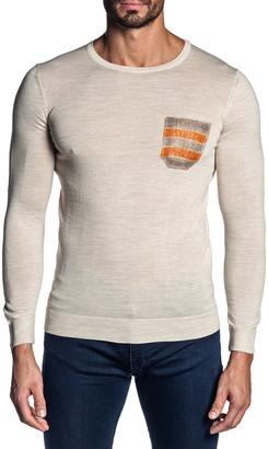 Jared Lang Men's Knit Contrast-Pocket Crewneck Sweater