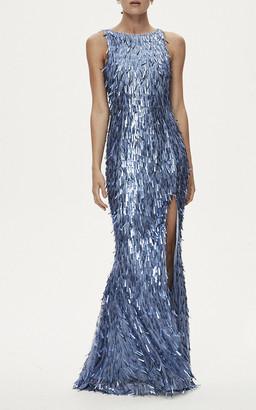 Rachel Gilbert Opus Embellished Fringe Gown