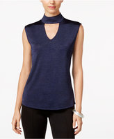INC International Concepts Mock-Neck Cutout Top, Only at Macy's