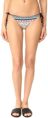 Shoshanna Women's Floral Stripe Clean String Bikini Bottom