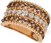 LeVian Le Vian Chocolatier® Diamond Three-Row Ring (2-1/8 ct. t.w.) in 14k Rose Gold