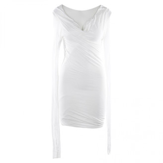 Rick Owens White Leather Dresses