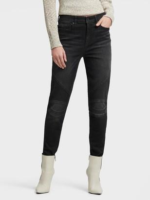 DKNY Women's Moto Jean - Black - Size 25