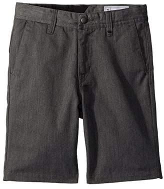 Volcom Frickin Chino Shorts (Toddler/Little Kids) (Charcoal Heather) Boy's Shorts