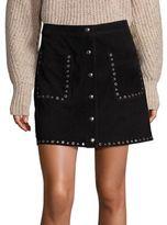 Rebecca Minkoff Rockin Suede Grommet Mini Skirt