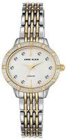 Anne Klein Oval Diamond and Swarovski Crystal Bracelet Watch