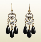 Gucci Earrings With Crystals And Glass Drops