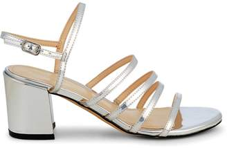 Nine West Metallic Block-Heel Slingback Sandals