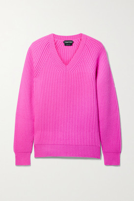 Tom Ford Ribbed Cashmere Sweater - Fuchsia