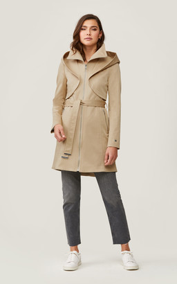 Soia & Kyo ARABELLA water-repellent trench coat with hood