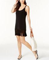 Dotti Fringe-Trim Hardware Dress Cover-Up Women's Swimsuit