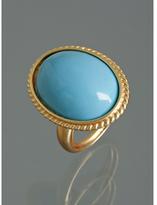 turquoise oval enamel large ring