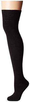 Socksmith Solid Over the Knee (Black) Women's Knee High Socks Shoes