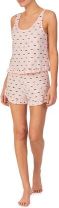 Shady Lady Print Ruffle Trim Tank Pajamas
