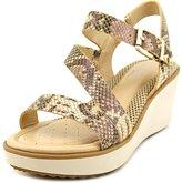 Easy Spirit Isandra Women US 8 W Brown Wedge Sandal