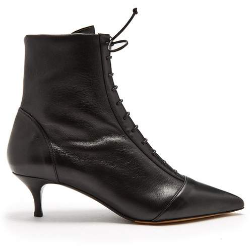 Tabitha Simmons Emmet Lace Up Ankle Boots - Womens - Black