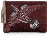 Sam Edelman Carol Fabric Clutch with Suede Trim
