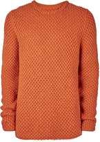 Topman Ltd Orange Oversized Chunky Knit Jumper