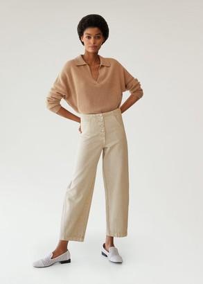 MANGO Buttons straight jeans beige - 1 - Women