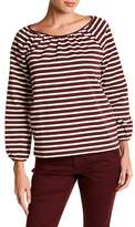 J.Crew J. Crew Structured Stripe Keyhole Blouse