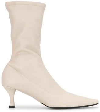 Proenza Schouler Ruched High Heel Boots
