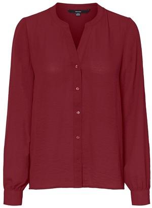 Vero Moda Draping Grandad-Collar Blouse