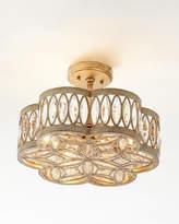 John-Richard Collection Diamante Six-Light Semi-Flush Ceiling Light