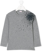 Il Gufo splatter print longsleeved T-shirt