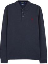 Polo Ralph Lauren Navy Slim Stretch Piqué Cotton Polo Shirt