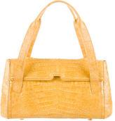 Nancy Gonzalez Crocodile Flap Bag