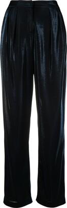 Emporio Armani High-Waisted Velvet Trousers
