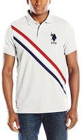 U.S. Polo Assn. Men's Tri-Color Diagonal Stripe Pique Polo Shirt